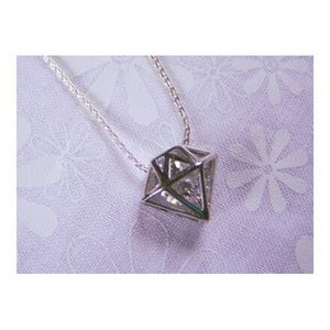 Diamond Cage Crystal Pendant Necklace